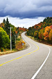 Fall highway. Fall scenic highway in northern Ontario, Canada Royalty Free Stock Photography