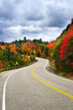 Fall highway. Fall scenic highway in northern Ontario, Canada Stock Image