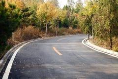 Fall highway. In Beijing suburbs Stock Image