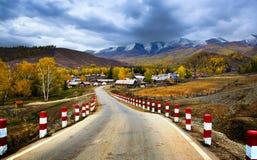 Fall highway Stock Photo