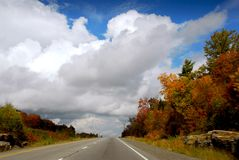 Fall highway Stock Photo