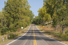 Fall Highway Scenic Royalty Free Stock Photo
