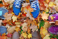 Fall hiking Stock Photography