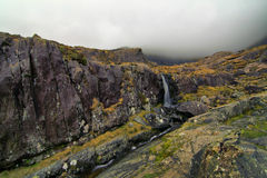 Fall in hills on misty day. Beautifull pass in hills of Dingle Stock Image