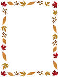 Fall Holidays Leafy Frame Or Border Stock Images