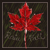 The Fall. Illustration of the maple leaf Royalty Free Stock Photos