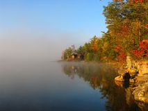 Fall on Jack Lake. A cold fall morning on Jack's Lake Stock Image