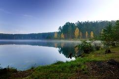 Fall and lake Stock Photo