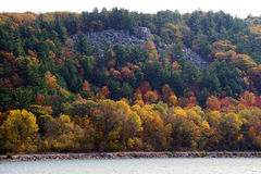 Fall in the lake bluffs royalty free stock images