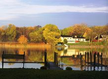 Fall on Lake Minnetonka Stock Photo