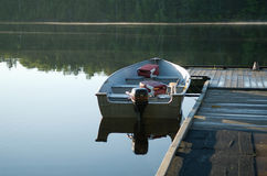 Fall Lake Morning. Early morning on Fall Lake near Ely, Minnesota Stock Photo