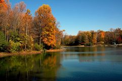 Fall Lake Scene Royalty Free Stock Images