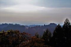 Fall landscape in a countryside of Kirishima, Japan Stock Image