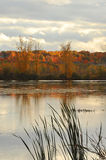 Fall landscape with lake Stock Images