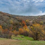 Landscape on mountain pasture Demerdzhi, Crimean peninsula Royalty Free Stock Photos