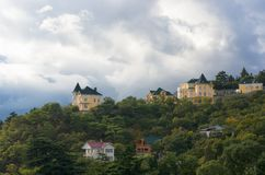 Fall landscape with pre-stormy sky in Crimea. Stock Photography
