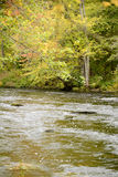 Fall landscape with river Stock Images