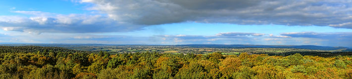Fall Landscape Scenic Panorama in Normandy France Royalty Free Stock Images
