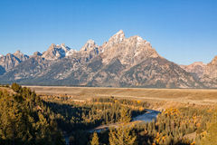 Fall Landscape at Snake River Overlook Royalty Free Stock Photos
