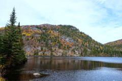 Fall landscapes, Canada. Charlevoix mountain during fall - Quebec, Canada Stock Image