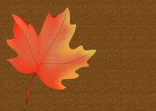Fall Leaf Background. This colorful fall season maple leaf background would be a wonderful greeting card or website background vector illustration