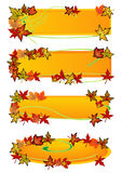 Fall Leaf Banners Stock Images