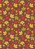 Fall Maple Leaf with Brown Background print /pattern Stock Photo