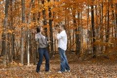 Fall Leaf Play royalty free stock photos
