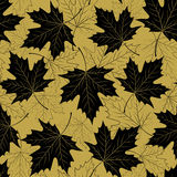 Fall leaf seamless pattern. Autumn foliage. Repeating golden color design. Vector illustration EPS10 Royalty Free Stock Photography