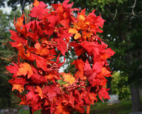 Fall Leaf Wreath royalty free stock photography