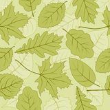 Fall leafage seamless background. Vector pattern for continuous replicate Stock Image