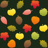 Fall Leafs Pattern Background Green Stock Photo
