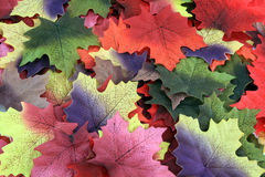 Fall leaves. Big pile of artificial fall leaves Stock Image