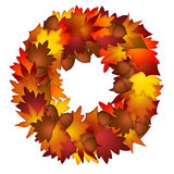 Fall Leaves and Acorns Wreath Royalty Free Stock Photo