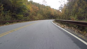 Fall Leaves Along the Blue Ridge Parkway stock video footage
