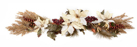 Fall leaves arrangement. On white background Stock Photography