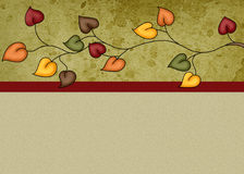 Fall Leaves Background. Designed with colorful fall leaves in the header. Ready for you to add your own text or photos to this. This could be used for printing vector illustration