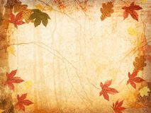 Fall Leaves Background. Sepia-toned vintage leaves background Royalty Free Stock Photos