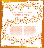 Fall Leaves background. Autumn Fall Leaves background. Vectro illustration Stock Photos