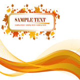 Fall Leaves background. Autumn Fall Leaves background. Vectro illustration Royalty Free Stock Photo