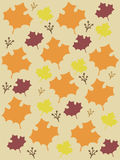 Fall Leaves background vector. royalty free stock photos