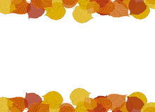 Fall Leaves Border. Decorative border of leaves in autumn colors stock illustration