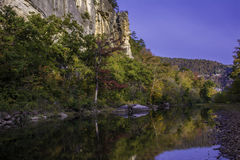 Fall Leaves On Buffalo National River Royalty Free Stock Image