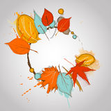 Fall leaves with color splash  warm color Stock Images