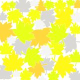 Fall leaves pattern. Different colored fall leaves pattern Stock Photo