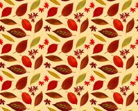 Fall leaves pattern small gold01 Royalty Free Stock Photos