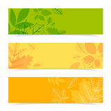 Fall leaves pattern in three colors. Royalty Free Stock Image