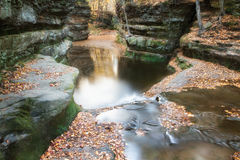 Fall Leaves at Pewits Nest, Baraboo, Wisconsin, USA Royalty Free Stock Photos
