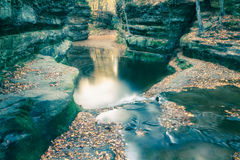 Fall Leaves at Pewits Nest, Baraboo, Wisconsin, USA Stock Photos