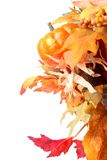Fall Leaves and Pumpkin Stock Images